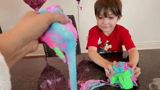 Fun play with Soft and Squishy Orb Flowtonia Kinetic Sand Slime