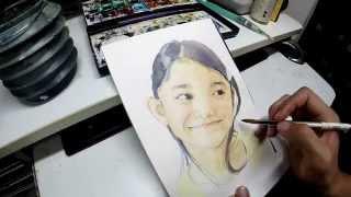 水彩画の描き方 「人物」 着彩編 How to draw watercolor