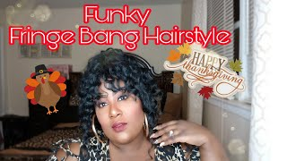 Funky Fringe Bangs and Ponytail:Thanksgiving Hairstyle