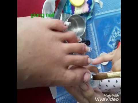 Giang nail ( dap bot kim tien + bong noi)