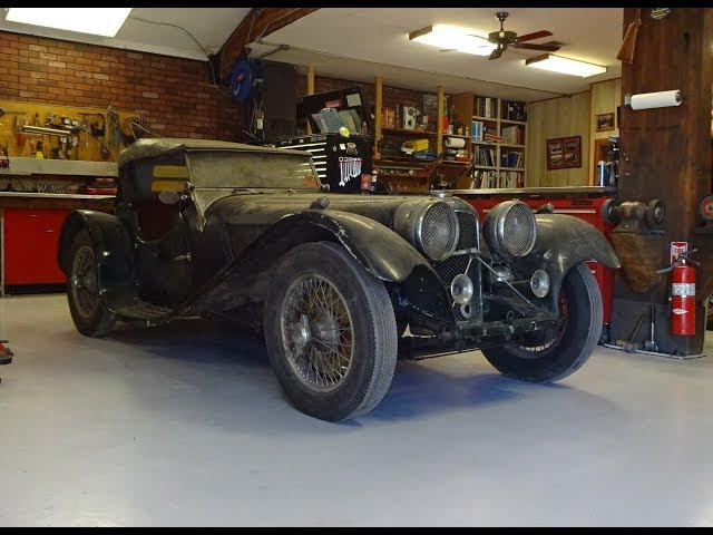1938 SS Jaguar 100 3 ½ Litre SS100 UNCOVERED After 60 Years ! on My Car Story with Lou Costabile