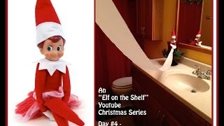 Elf On The Shelf Christmas Series - Toilet Paper Bathroom Door Barricade - Day #4