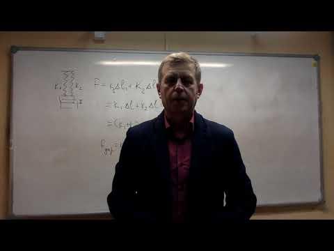Параллельное и последовательное соединение пружин