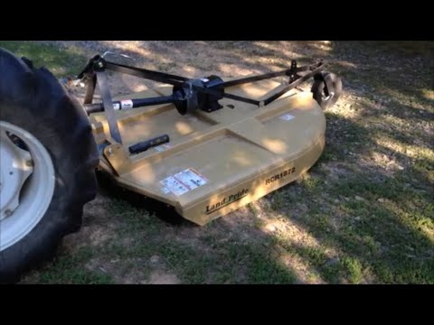 Land Pride RCR 1872 bush hog Review and Mowing
