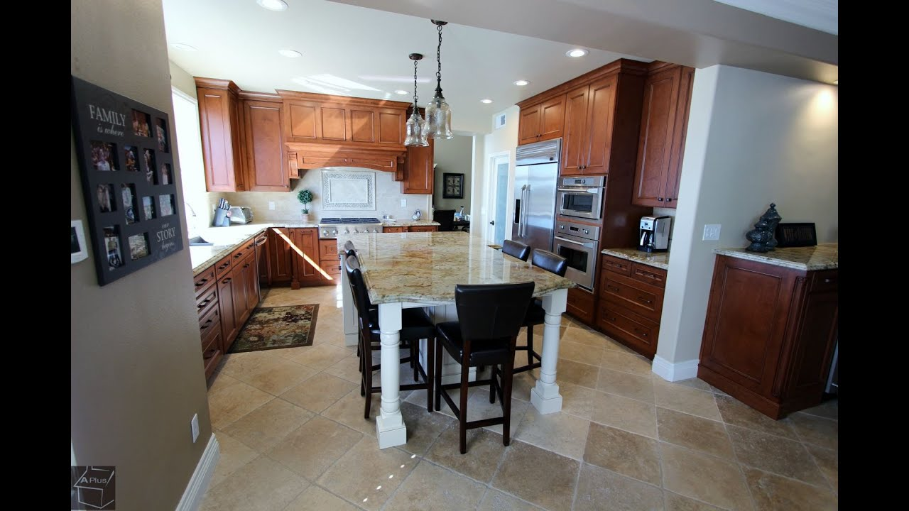 Tour Of Kitchen Remodel In Dove Canyon Orange County By Aplus Interior Design Remodeling Youtube