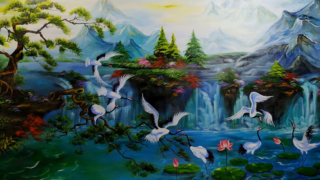 Landscape painting | Art of painting | Feng shui paintings | Crafts at home