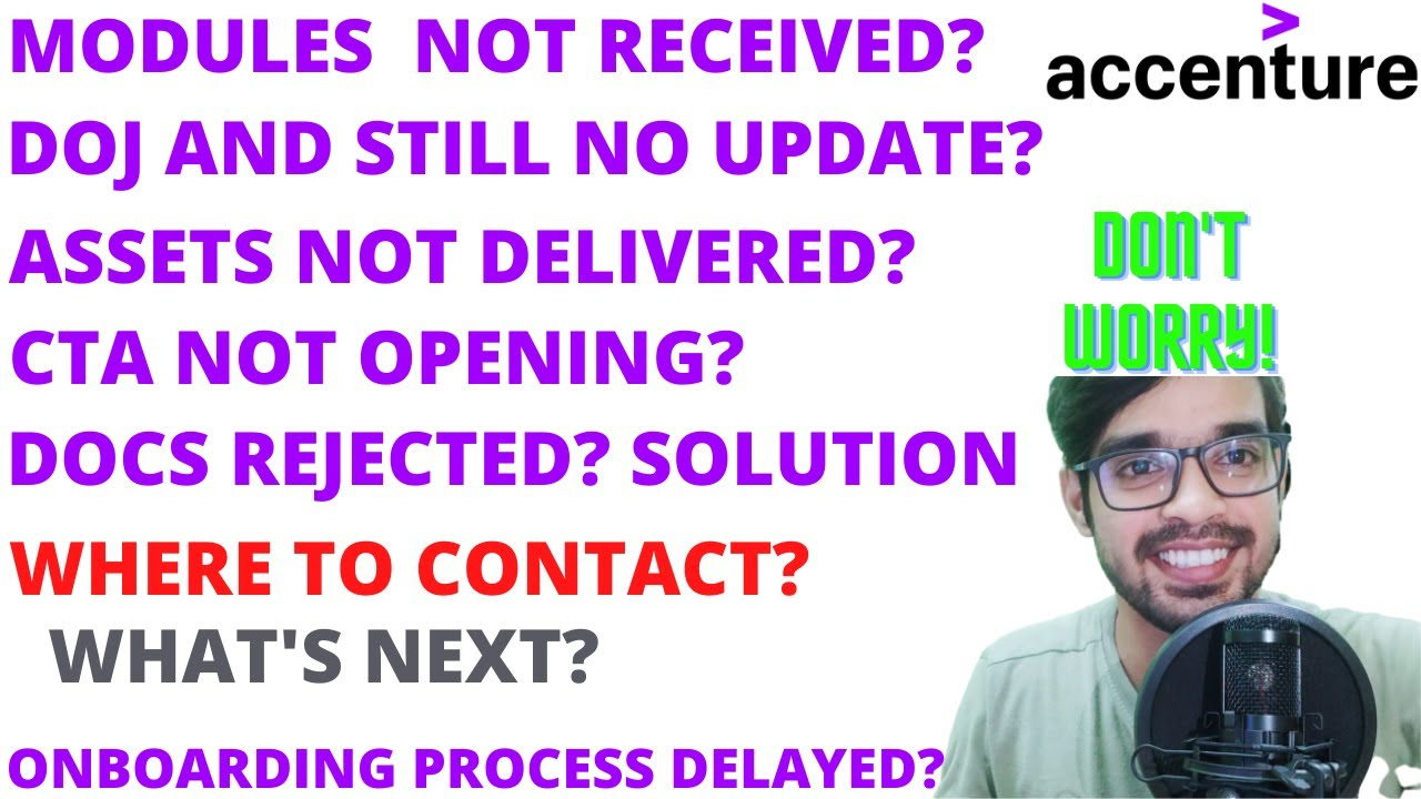 ACCENTURE DOJ NOT RECEIVED OFFER LETTER+MYLEARNING MODULES DOCS  REJECTED ONBOARDING TOO LONG WHY