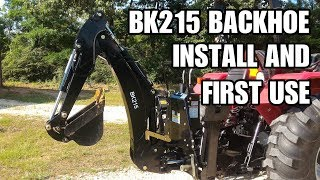 BK215 backhoe from Titan Attachments on my Mahindra - Review and first use.