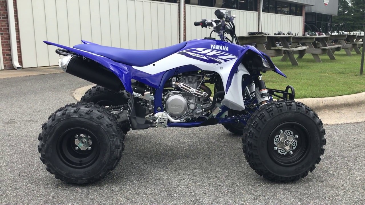 2018 yfz450r team yamaha blue white youtube On 2018 yamaha yfz450r