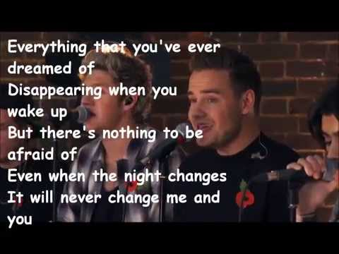 Night changes One Direction acoustic with lyrics