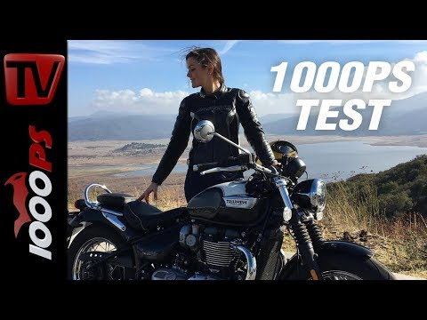 1000PS Test -🇨🇭 - Triumph Bonneville Speedmaster mit Juliane