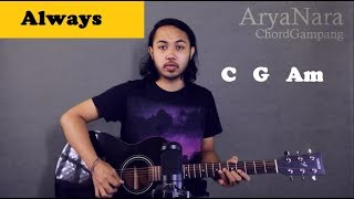 Chord Gampang (Always - Bon Jovi) by Arya Nara (Tutorial Gitar) Untuk Pemula