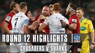 ROUND 12 HIGHLIGHTS: Crusaders v Sharks - 2019