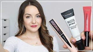 TESTOWANIE NOWOŚCI - TUSZ I BAZA MAYBELLINE, POMADKA L'OREAL | Milena Makeup