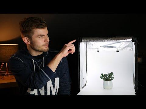 Professionelle Produktfotos mit Lichtzelt fotografieren (Heorryn Fotozelt Review)
