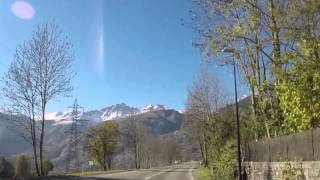 Tignes to Bourg-Saint-Maurice route (inter-session 10/2014) GO PRO HD