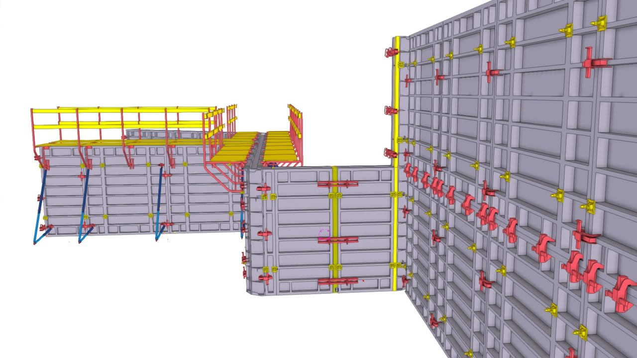 hight resolution of concrete formwork planning made quick and easy