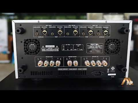 Review!! Rotel RMB-1585 power amp 5 ch. By AP Acoustic Art