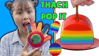 Sang Nhà Bạn Chơi - Làm Thạch Pop It Cầu Vồng Siêu Ngon ❤ KN CHENO Chị Hằng