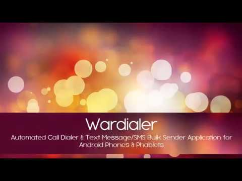 Wardialer - Automatic Calling Dialer App & Mass SMS by List/CSV Application  Android