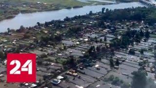 Смотреть видео Вода отступает: пик паводка в Канске пройден - Россия 24 онлайн