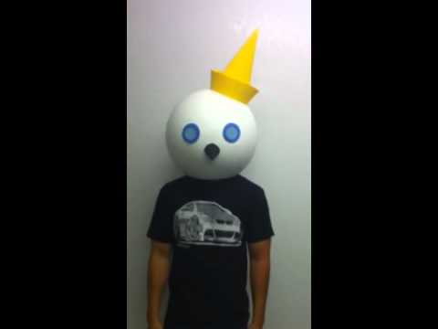 Jack head costume ships in a box