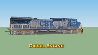 How diesel freight trains work   train videos for kids   Lots & Lots of Trains