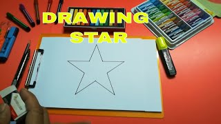 DRAW STAR FOR KIDS SIMPLE l DRAWING STAR EASY