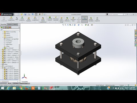 solidworks tutorial | how to design Fixture assembly