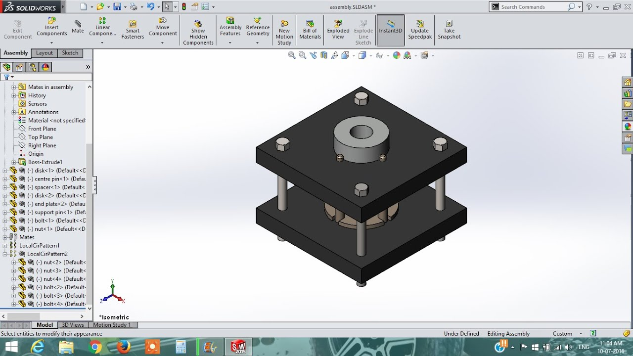 Solidworks Solidworks Tutorial How To Design Fixture Assembly Youtube