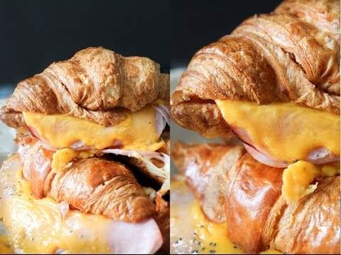 How To Make Honey Mustard Ham And Cheese Croissants - Fast Food Friday - By One Kitchen