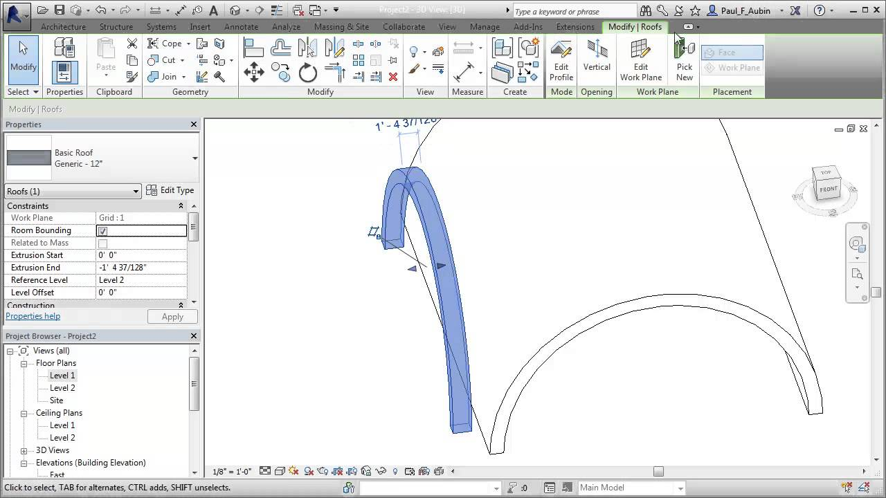 Make A Groin Vault Roof In Revit Youtube