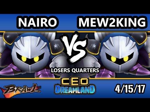 CEO Dreamland 2017 Brawl - NRG   Nairo (Meta Knight) Vs. FOX MVG   Mew2king (Meta Knight) SSBB LQ