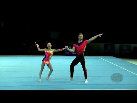 France (FRA) - 2018 Acrobatic Worlds, Antwerpen (BEL) - Combined  Mixed Pair