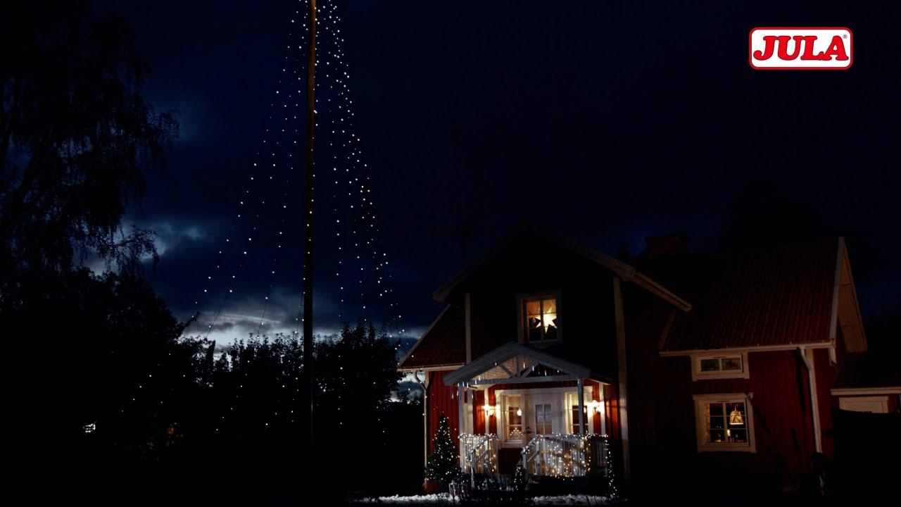 julstjärna på fot jula