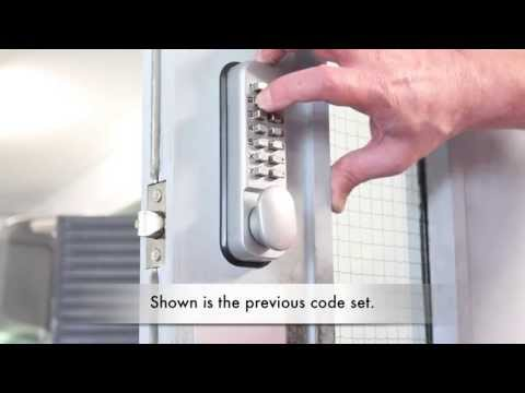 & Changing the Code on a Digi-pad Lock - YouTube
