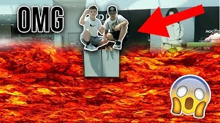 FLOOR IS LAVA CHALLENGE AT THE MALL!!