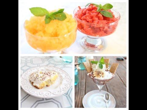 Healthy No Bake Dessert - Granita, S'mores Dessert, Banana Cream Pie recipe