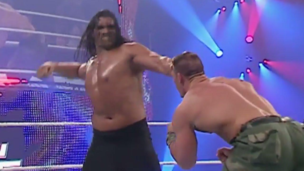 John Cena Vs The Great Khali Saturday Night S Main Event June 2 2007 Youtube