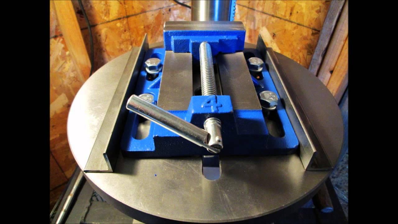 Sliding Mount For Drill Press Vise