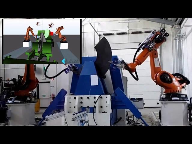 SHEET METAL BENDING, ROBOT COOPERATION; LAVORAZIONE LAMIERA CON ROBOT COOPERANTI