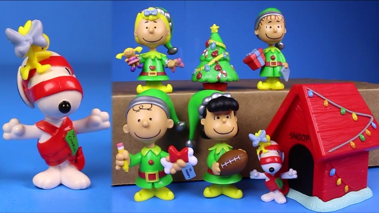 Peanuts Christmas Just Play 7 Figure Set Snoopy Charlie Brown Toys ...