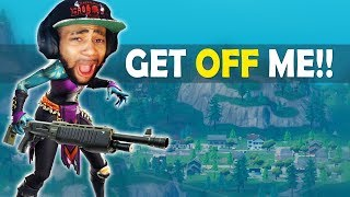 GET OFF ME!! | HIGH KILL FUNNY GAME - (Fortnite Battle Royale)