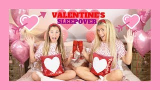 VALENTINE'S DAY NIGHT & MORNING ROUTINE! (valentine's day sleepover!) | Rosie McClelland