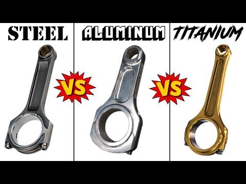 STEEL vs ALUMINUM vs TITANIUM Connecting Rods