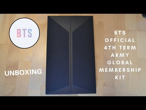 Unboxing BTS Official 4th Term ARMY Global Membership Kit
