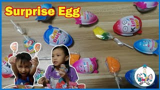 Opening Surprise Eggs and Fruity Pops #surprise #egg #lollipop