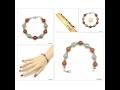 Red Agate Bracelet, Agate Bracelet, Agate Beads Bracelet,