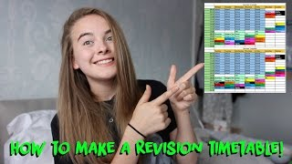 HOW TO MAKE A REVISION TIMETABLE!