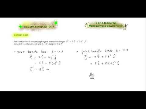 Fisika Dasar Contoh Soal Kecepatan Rata Rata 2 Youtube